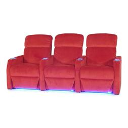 Seatcraft Sienna Red Fabric Home Theater Seating Chairs Manu