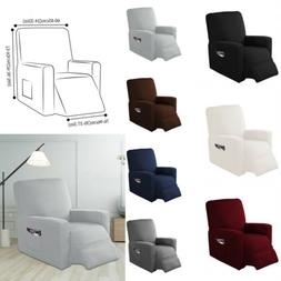 Solid Recliner Sofa Protector Cover Office Home Seat Stretch