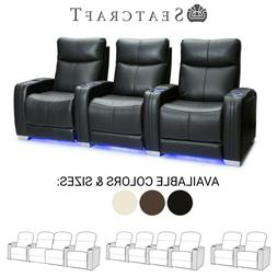 Seatcraft Solstice Leather Home Theater Seating Recliners Se