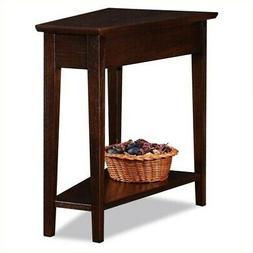 Leick Square Chocolate Oak Wood Side Table