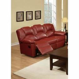 Sumptuous Hardwood, Metal & Bonded Leather Recliner Sofa, Bu