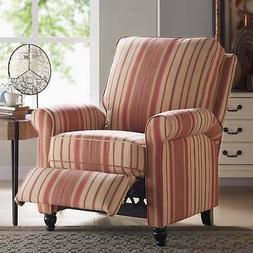 Copper Grove Sumter Striped Push-back Recliner Chair Red, Be