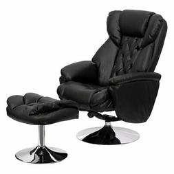 Flash Furniture Transitional Leather Swivel Wingback Recline