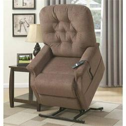 Pemberly Row Tufted Lift Recliner in Saville Brown