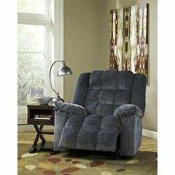 Flash Furniture Twill Power Rocker Recliner in Blue