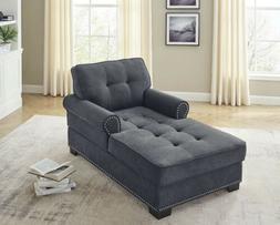 upholstered fabric chaise lounger sleeper arm recliner