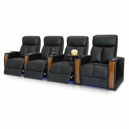 Seatcraft Seville Black Home Theater Seating Recliner Seat C