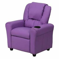 Flash Furniture Vinyl Kids Recliner with Cup Holder and Head