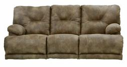 Catnapper - Voyager Power Lay Flat Reclining Sofa with 3x Re