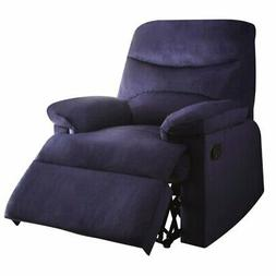 Bowery Hill Woven Recliner in Blue